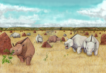 Piauhytherium and Toxodon by TheHellckan