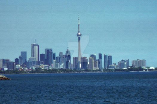 Texturized Down Town Toronto by amalym