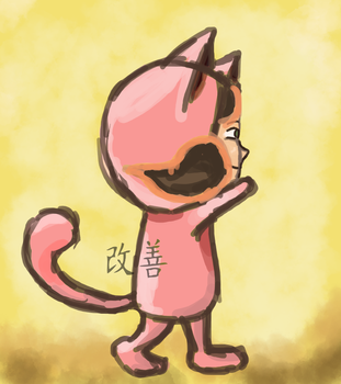why are you wearing that kitty suit by KaizenKitty