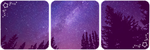Forest at night deco divider by Martith