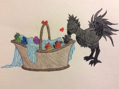The Itteh Bitteh...Chocobo Committeh? by gaea-earthgoddess
