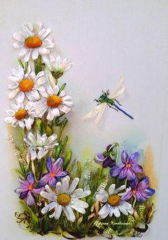 Little picture, silk ribbon embroidery by TetianaKorobeinyk