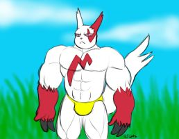 Buff Anthro Pokemon: Zangoose