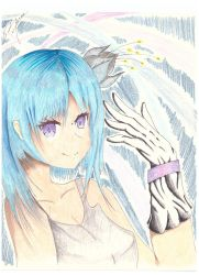 A girl with a glove  by 7RML7
