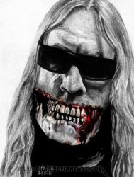 Pain.Murder.Art. Jeff Hanneman by Shamaanita