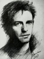 Hugh Grant - Charcoal by Musiriam