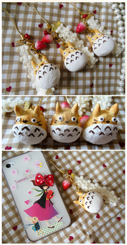 Totoro Bread Cell Phone Straps by KeoDear