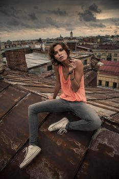 on the roofs of St. Petersburg with Chucha by photoport