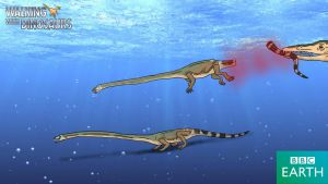 Walking with Dinosaurs: Tanystropheus by TrefRex