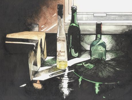 Ink and Watercolor Still Lifes_1 by Paintedland