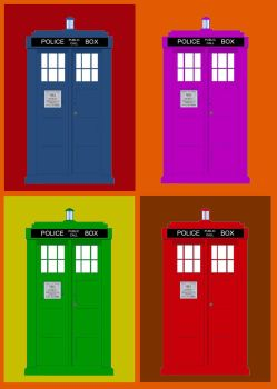 TARDIS multi-color by AngelHughes