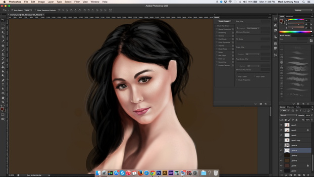 Digital Painting Practice WIP by amao2006