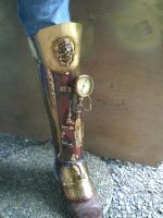 Emperors Steampunk Greave by Skinz-N-Hydez