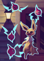 Eevee House - Jolteon by Pombei