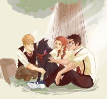 Marauders and Lily by JacksSquirrel16