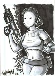Padme Sketchcard by stratosmacca