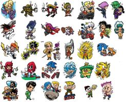 Anime Video Game Stickers