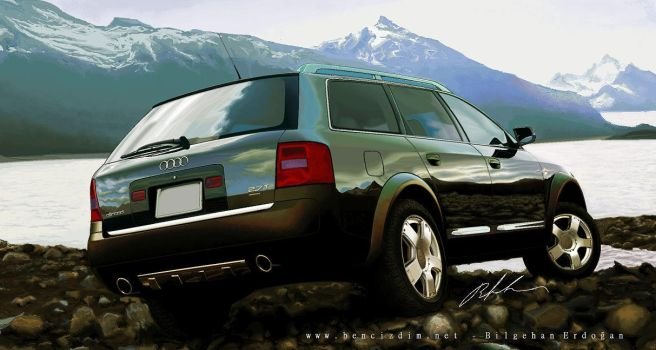 Audi Allroad in MS Paint by bencizdim