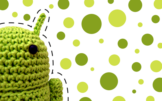 Green Android Amigurumi by iniminimainimo