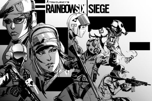 Rainbow 6 Siege Commission Poster 2 by SkizzleBoots