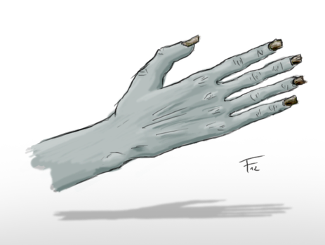 Doodle: Dead Hand? by UltraNoire