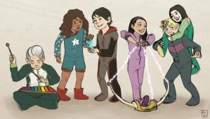 Very Young Avengers by AlyssaF