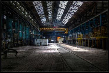 Eastleigh Locomotive Works by killyourown