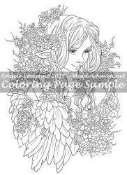 Art of Meadowhaven Coloring Page: Sweet Blossoms by Saimain