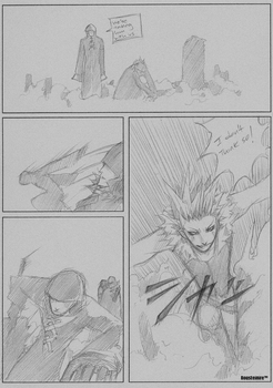 End of Crisis - FFVII pg9 by Rousteinire