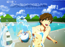 Sexy swimming anime by GreenMich