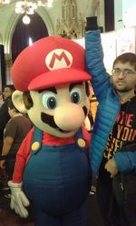 The last Photo of the Game City: Me and Mario! by Kiro-Kurusu