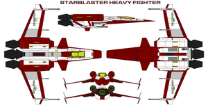 Starblaster Heavy Fighter by bagera3005