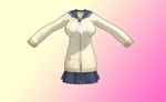 MMD Cotton school uniform by amiamy111