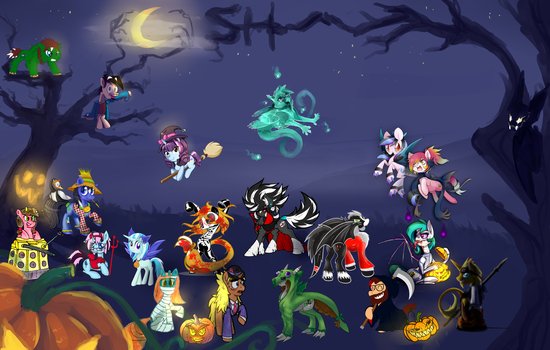 MLPSpain - SH Halloween Collab! by TheLionMedal