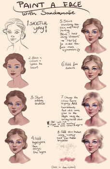 Tutorial: Painting a female face by SandraWinther
