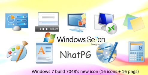 Windows 7 7048's new icon by NhatPG