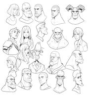 Head Doodles 3 by Varguy