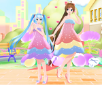 [MMD DL] TDA + WYKP Parfait Dress Miku and Amy by Mario-and-Sonic-Guy