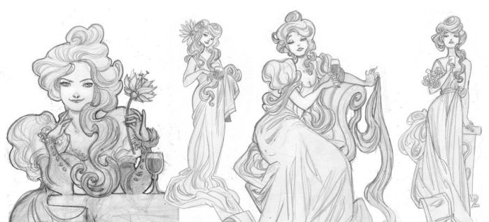 More Art-Nouveau Ladies by kyla79