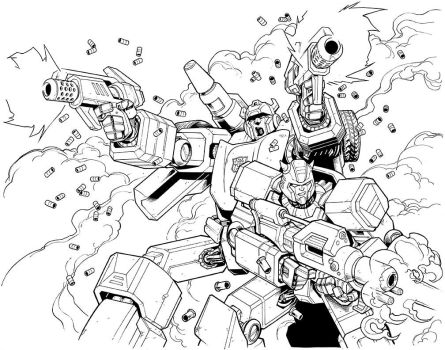 Sideswipe and Cliffjumper Commission by brendancahill