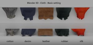 Blender 3d Cloth Basic Settings by anul147