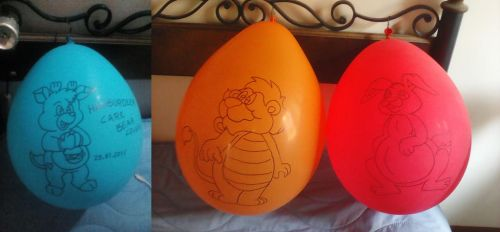 Hamburdeer, Bumblelion, Mr. Rabbit Balloons by gato303co