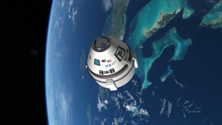 CST-100 Starliner over the Bahamas by francisdrakex