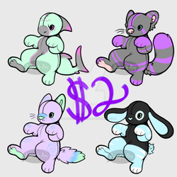 Plush Adopts! (2/4 OPEN!) by PersephoneValkar