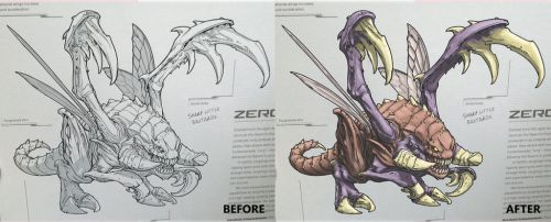 Starcraft Legacy of the Void coloring book by yu-yi