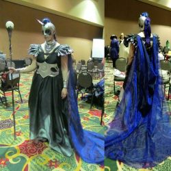 Nightmare Moon Cosplay front and back by Elentari-Liv