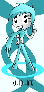 XJ-10 Jate the daughter of XJ-9 Jenny by Keytee-chan