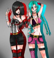 Jinx the Heartless and Jinx ::League of Legends:: by Bitch-Im-Heartless