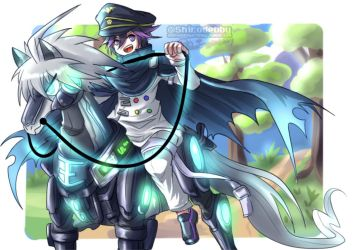 Kiibouma - Ouma riding Kiihorse by shirodebby