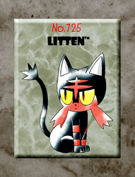 Litten (Old Sugimori Style) by CadmiumRED